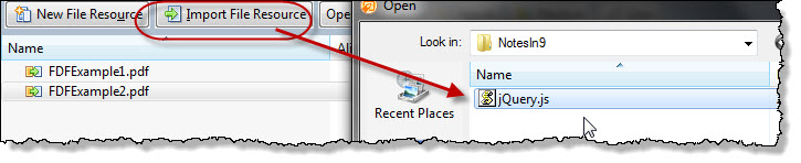 uploading a jQuery core js file