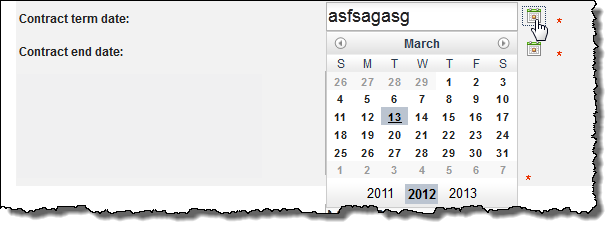 Users can still type rubbish into the date field