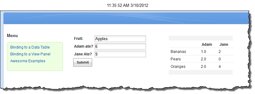 Initial XPages form