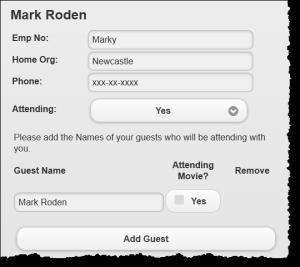 jQuery Mobile acceptance form