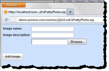 Basic Image Upload XPage
