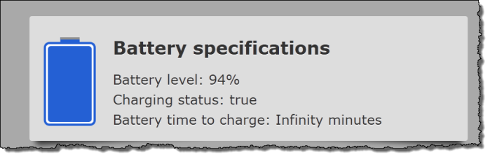 Battery Status through HTML5