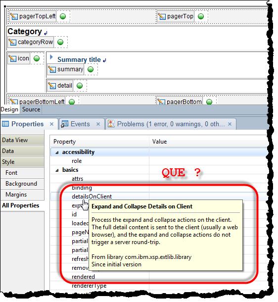 details on client - que?