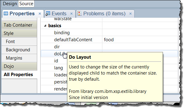 XPages designer help for the doLayout property of the TabContainer control