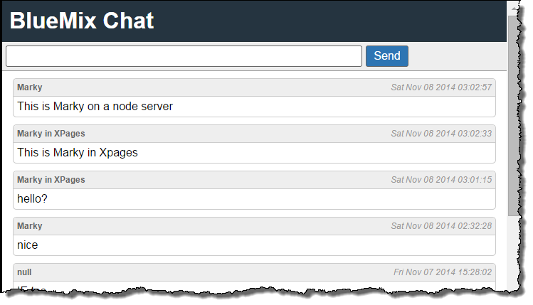 Creating an XPages Websockets chat client using Bluemix | Xomino