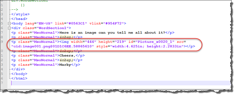 Where are the MIME-embedded images in a Microsoft Graph REST