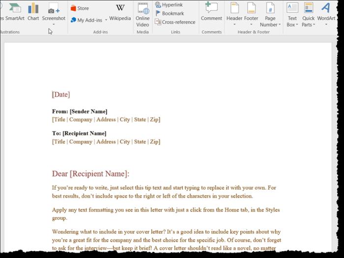 blank word document online