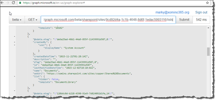 SharePoint now accessible via the Microsoft Graph beta   Xomino