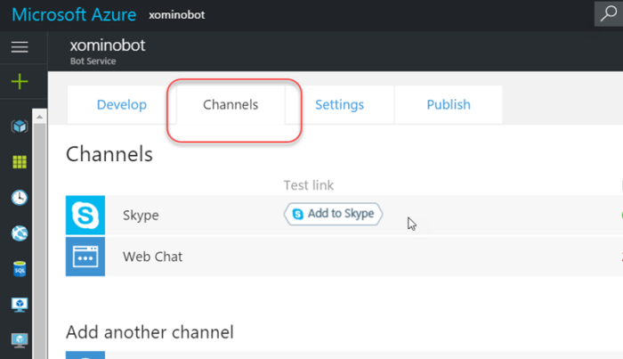 Adding your Azure bot framework bot into Skype | Xomino