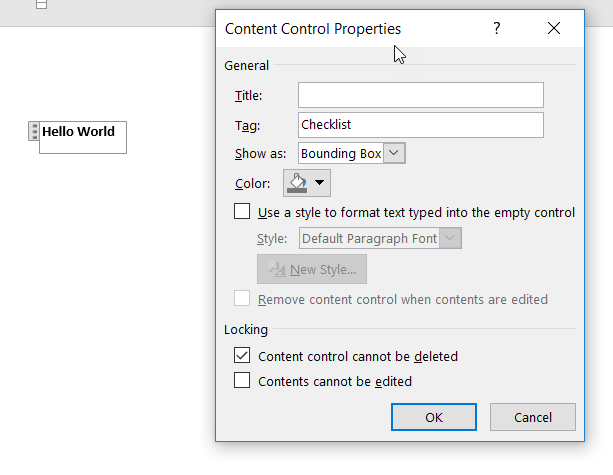 Office Add-Ins – JavaScript control over the Content Control lock in